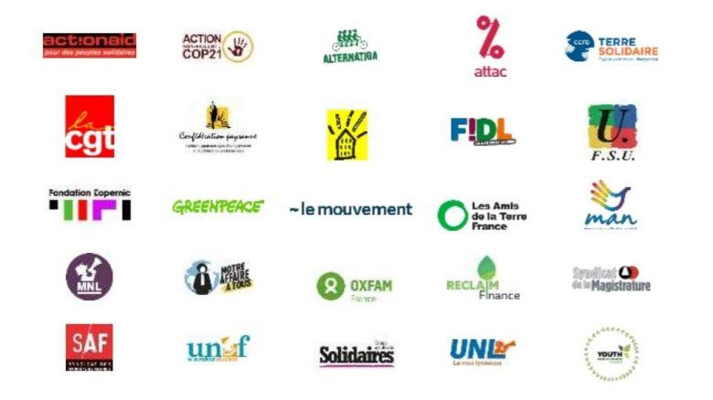 """Au total, 25 organisations syndicales et associatives se rassemblement pour un appel à une """"mobilisation générale"""" le 1er mai prochain. Une manifestation qui se fera... aux fenêtres. / © """"Plus jamais ça !"""""""