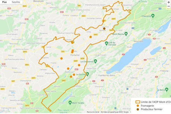 """Haut-Doubs : fromageries et zone de production des fameux """"Mont d'or"""""""